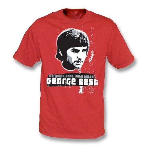 PunkFootball Camiseta de George Best Grande (Verde irlandés)