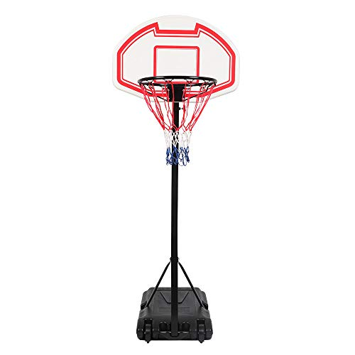 Shamdon Home Collection Ship from UK! Teenager Portable Height-Adjustable Sports Basketball Hoop Backboard System Stand w/Wheels,Indoor Outdoor Basketball Stand Black