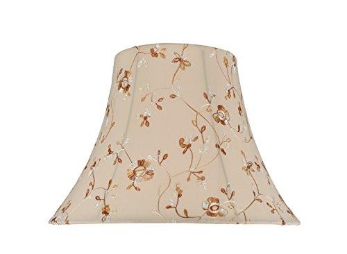 Aspen Creative forma de campana de transición araña construcción lámpara en lino blanco