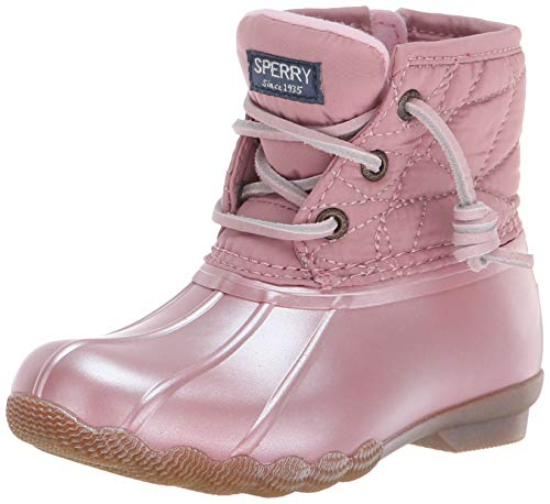 Sperry Girls' Saltwater Boot Sneaker, Pearlized Blue, 7 Medium US Toddler