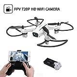 WINGLESCOUT Drone con Telecamera H816HW Mini Quadricottero Fotocamera Reale HD...