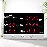 Kacsoo Dispositivo de medición de la calidad del aire Monitor de calidad del aire Detector de formaldehído Detector de calidad del aire Medidor de calidad de aire formaldehído