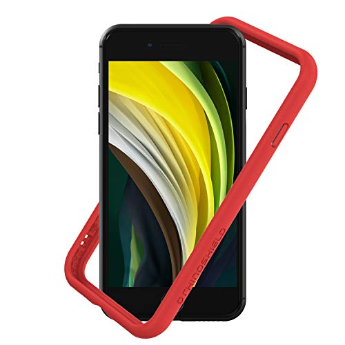 RhinoShield Bumper Compatible with [iPhone SE2 / SE (2020) / 8/7] | CrashGuard NX - Shock Absorbent Slim Design Protective Cover [3.5M / 11ft Drop Protection] - Red