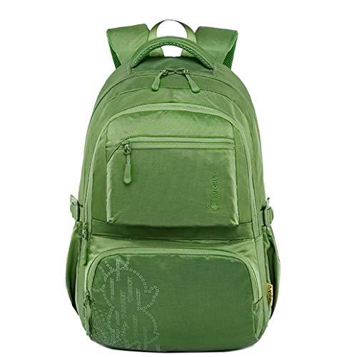 FLHT,Mochila Escolar Niña Niño Impermeable Ligero 7-9-12 Años De Edad Alumno Del Campus Del Joven Mochila De Viaje,Green-big
