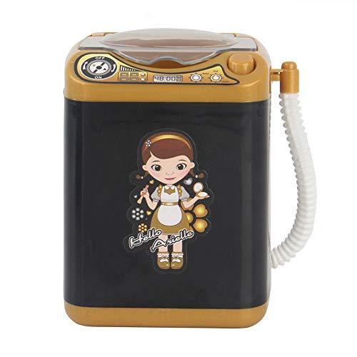 FIRSS Mini Waschmaschine Spielzeug Make-up Pinselreiniger Elektrisch Gerät Kosmetik Reinigung Drying Pad Kinderwaschmaschinen Reiniger 360° Drehbar Reinigungs-Entferner-Set Wäsche Spielset