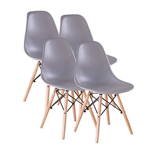 Sly Silla de comedor para comedor en cocina, patas de madera maciza con alfombrilla antideslizante, silla de recepcion de bienes raices