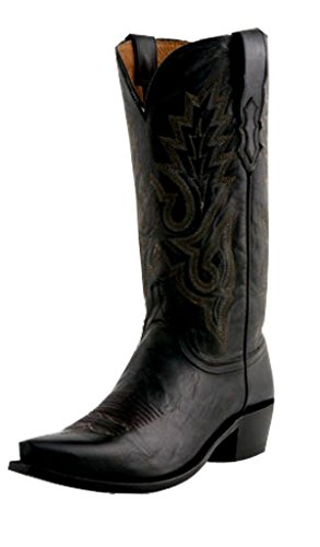Lucchese Men's Handmade 1883 Madras Goat Cowboy Boot Snip Toe Black 14 EE US