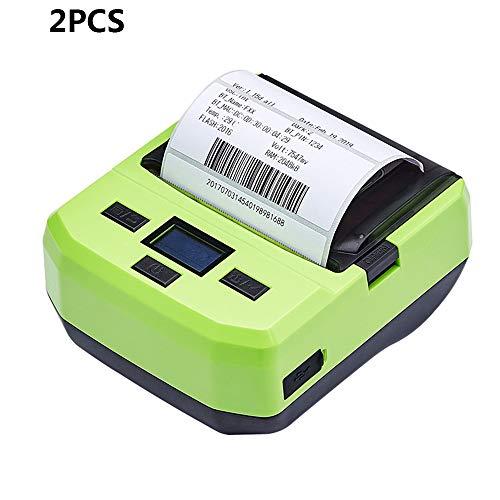 ZUKN 80 MM Tragbare Thermoetikettendrucker Drahtlose BT Preisschild Ticket Barcode Drucker Mit Akku Display USB Kabel Für Android IOS Windows 2 Stücke