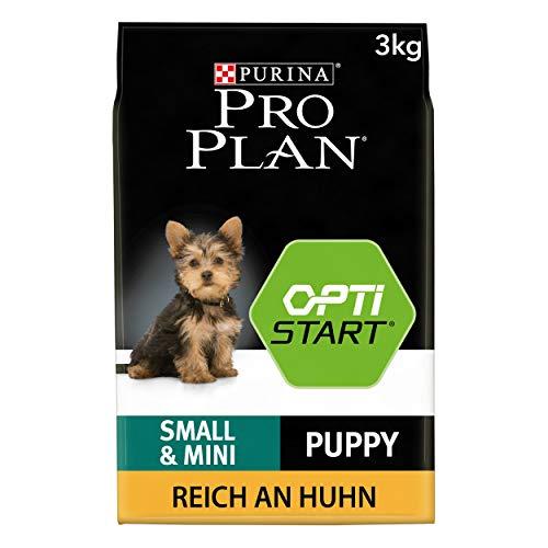 PURINA Pro Plan Comida Seco para Cachorros Pequeños y Mini con Optistart, Sabor Pollo - 3 Kg