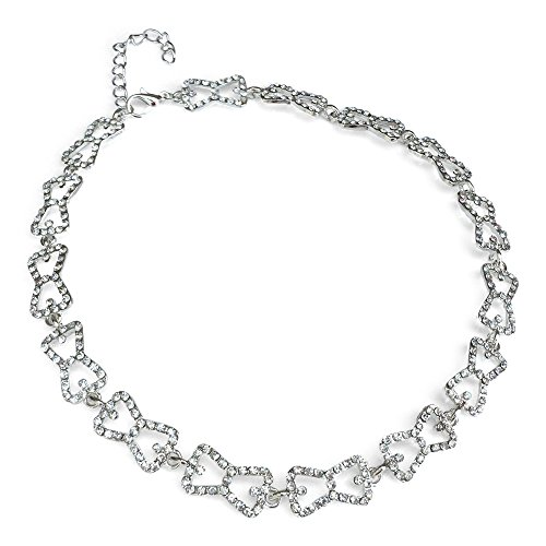 Orion Creations Vampire Inspired. Caroline Forbes White Crystal Choker Necklace