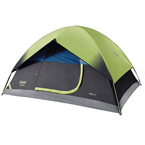 Coleman 6-Person Dark Room Sundome Tent, Green/Black/Teal (Renewed)
