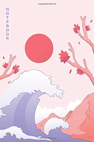 Notebook: A Dotted Japan Japanese Scenery Mountain Wave Notebook Journal - Perfect as a Gift