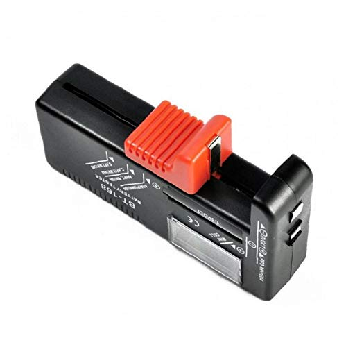 LAANCOO Universal-Batterie-Tester mit LCD-Leads Digitalanzeige, Haushalt Battery Checker für AA AAA C D 9V 12V 3,7 V Li-Ion 18650 CR123A 2CR5 CR2032 Knopfzelle usw.