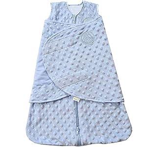 Halo Plush Dot Velboa Sleepsack Swaddle Wearable Blanket, Size Newborn