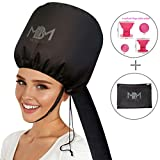 Best Bonnet Dryers - Bonnet Hair Dryer Attachment-W/ 10 Silicone Hair Curlers-Extra Review