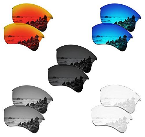 SmartVLT Set of 5 Men's Replacement Lenses for Oakley Flak Jacket XLJ OO9009 Sunglass Combo Pack S01