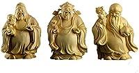 創造的な彫刻 大葉の箱ウッド木彫りの仏像像フルフ撮影家のリビングルームの装飾、木製の工芸品誕生日の誕生日プレゼント 風水装飾アートコレクション (Color : D)