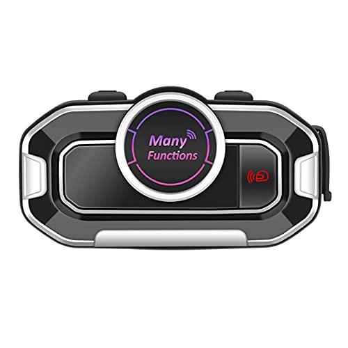 VersióN en IngléS Casco Intercomunicador Motocicleta Moto Multifuncional BT Interphone Auriculares Bluetooth