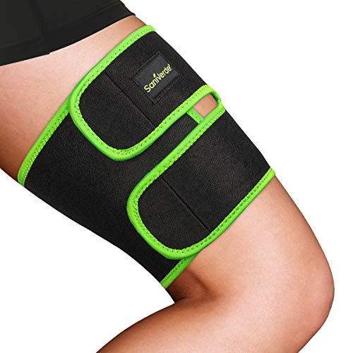 Oberschenkelbandage Damen mit Klettverschluss – Kompression Oberschenkel Bandage Sport, rutschfest und verstellbar, Vorbeugend bei Durchblutungsstörungen & Krämpfen