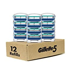 Gillette5 men's blade refills feature 5 blades for better comfort (vs. Sensor3), as well as a Lubrication Strip that helps your Gillette5 glide across your skin with comfort. The Gillette5 has a Front Pivot that transfers pressure of your hand away f...