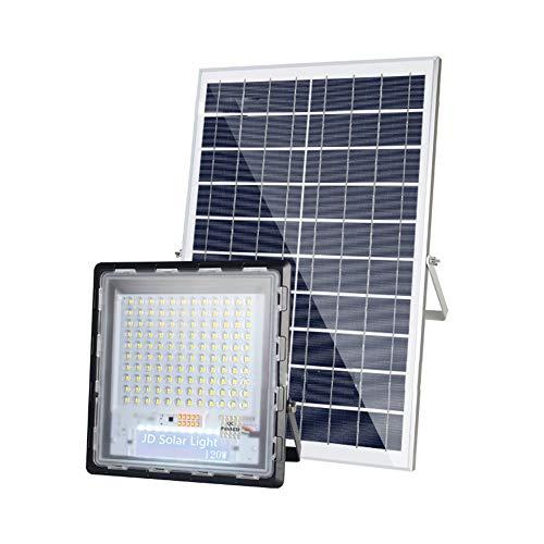 H-XH Solar buitenspot led met afstandsbediening, IP67 waterdicht super helder licht zonne-veiligheidsverlichting, buitenverlichting op zonne-energie met batterij-indicator