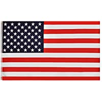 RainRoad 3x5-Feet Polyester Double-Sided American Flag with Brass Grommets
