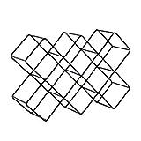 DESIGN DELIGHTS WEINFLASCHENHALTER Quadrat | Metall, schwarz matt, 46 cm | Weinständer, Weinregal, Flaschenhalter