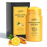 Turmeric Clay Mask Stick Organic Vitamin C Purifying Dead Sea Mud Mask Blackhead Cleansing Healing Clay Mask Deep Clean Pore Improve Skin Acne Scars Facial Mask With Blackhead Remover Extractor Tools