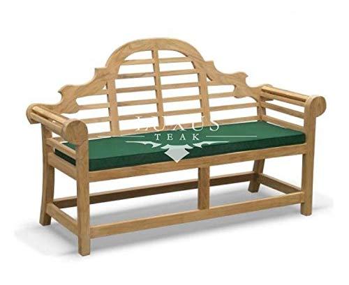 Luxus Home And Garden - Cojín de banco para muebles de jardín de teca