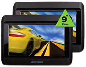 NEXTBASE Click 9 Lite Duo DVD Player/Screen Kit + Infrared Headset + Mount for DVDock Portable DVD Player