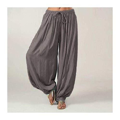 Casuales Mujeres Harem Pantalones Deportes Hippie Hippie Entrenamiento Pantalón Suelto Pantalones Sweatpants Solid Sports Pantalones Sueltos Danza Suave (Color : Gray, Size : XL.)
