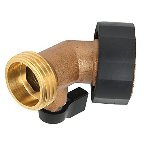 Meiyya Codo de Manguera, Conector de Manguera de jardín Conector de válvula de Cierre para Acoplamiento de válvula de Cierre de Codo de Manguera