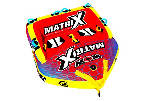 WOW World of Watersports Matrix Towable Boat Tube, 1-4 Person, 20-1060, Red