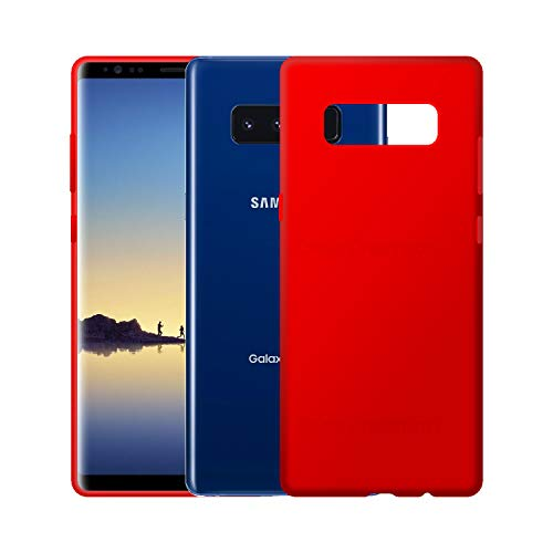 Case Creation Luxurious OG Series for Samsung Note 8 Case Cover,Anti-Dirty Slim Case Frosted Matte Cute Candy TPU Raised Bezel (Splash of Color) Back Cover for Samsung Galaxy Note8 -Wine Red