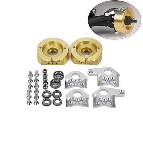 Que-T 1 Pair Brass Steering Knuckles Weight for 1/10 Scale RC Wraith Axial 90018 Crawler Car