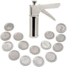 AMPLE EMPORIUM Ample Sev Maker or Press Maker Noodles/Murukku Maker for Kitchen Stainless Steel with 15 jalis