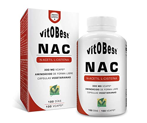 Acetil cisteina aminoacidi NAC 100 Vcaps.- alimenti e integratori Integratori per lo sport - VITOBEST