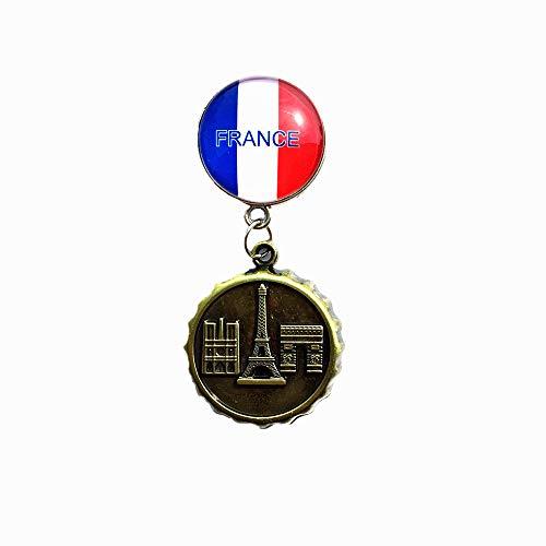 Tour Eiffel Arc de triomphe Notre Dame de France Souvenir 3D Voyage Aimant de réfrigérateur Décoration de maison et cuisine Polyrésine Artisanat Réfrigérateur Collection Aimant