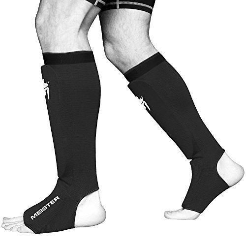 Meister MMA Elastische Schienbeinschützer, gepolstert, 1 Paar Abbildung 2