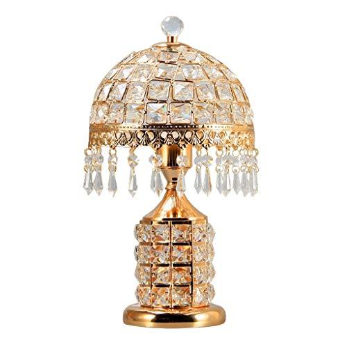 Lámpara de mesa Interruptor de botón de cristal de la lámpara de tabla doble con latón antiguo teñido acabado moderno y conciso estilo lámpara de escritorio for el dormitorio de estar Oficina de habit