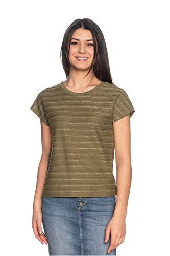 Only T - Camiseta para mujer, color verde oliva Verde L