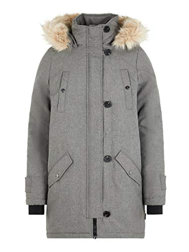 VERO MODA Damen Vmexcursionexpedition 3/4 Parka Noos Mantel, Medium Grey Melange, S EU