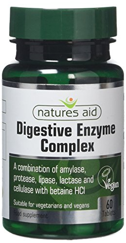 Natures Aid Digestive Enzyme Complex with Betaine Hydrochloride, Vegan, 60 Tablets
