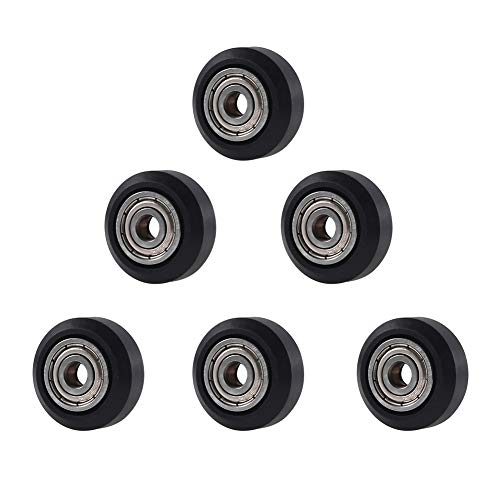 Alinan 3D Printer POM Wheel Plastic Pulley Linear Bearing for Creality Ender 3, Ender 3 Pro, CR-7, CR-8, CR-10, CR-10S Series 3D Printer, 6 Pcs