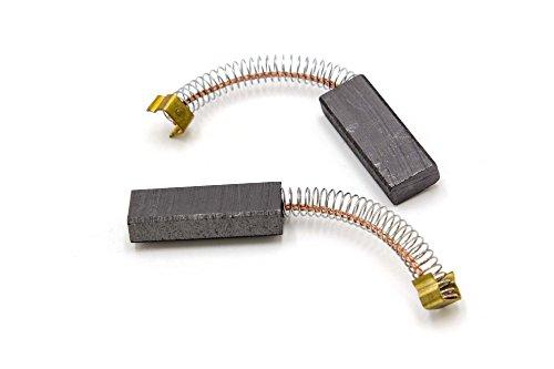 vhbw 2x balai de carbone pour aspirateur, aspirateur robot Miele S200-Serie, S300-Serie, S500-Serie, Numatic