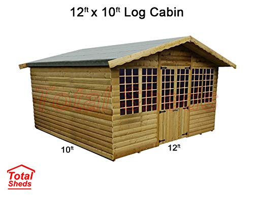 Total Sheds 12ft (3.6m) x 10ft (3m) Summer House Log Cabin Ultimate Cabin