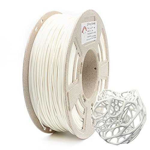 Reprapper 1kg Filamento PLA+ Plus 1.75 (± 0.03 mm) per Stampante 3D, MPLA (PLA modificato) Extra Forte, Bianco