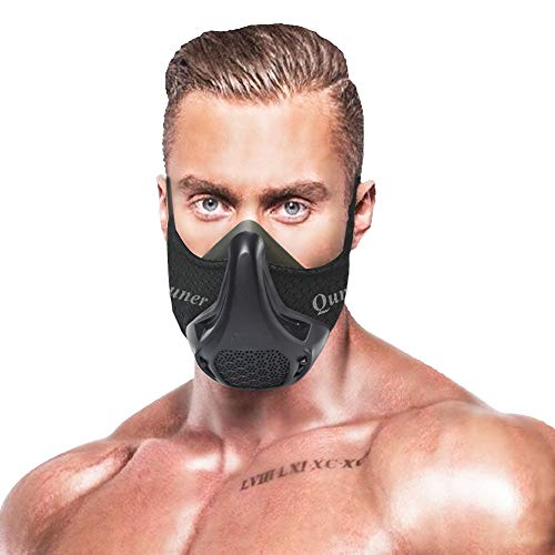 QISE Training Mask 3.0 Resistance Breathing Oxygen Sport Fitness Mask 24 Breathing Resistance Levels and Imitate Workout at High Altitudes for Cardio Exercise