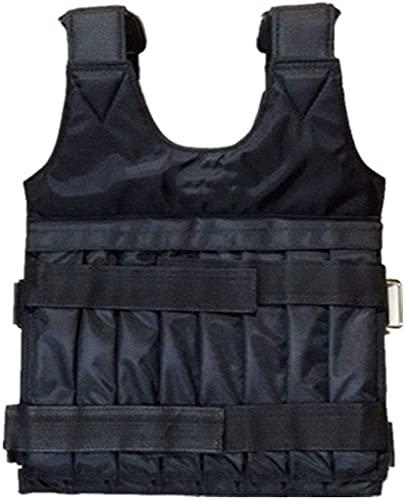 Chalecos de Peso Chaleco ponderado de 20kg | Placa de Acero Ajustable Chaleco vacío con Almohadillas de Hombro | para Accesorios Deportivos. (Color : Black, Size : 60x42cm)