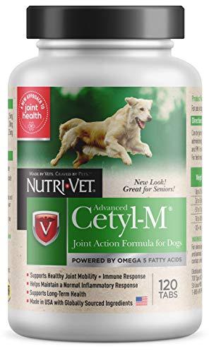 Nutri-Vet Cetyl-M Advanced Joint Action Formula Chewable Tablets 120 ct